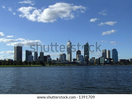 Perth City over the Swan River