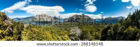 Pertio Moreno Oeste and Nahuel Huapi lake, Argentina - stock photo