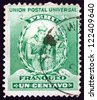 PERU - CIRCA 1898: a stamp printed in the Peru shows Manco Capac, Founder of Inca Dynasty, circa 1898 - stock photo