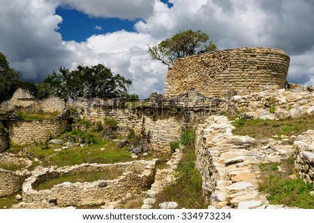 Peru, Kuelap matched in grandeur only by the Machu Picchu, this ruined citadel city in the mountains near Chachapoyas. Peru