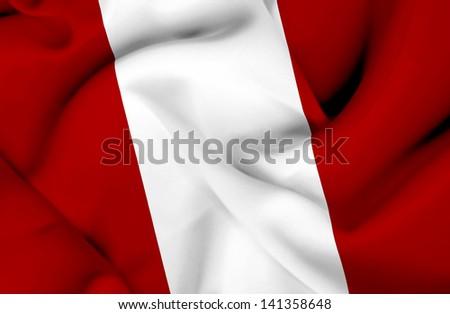 Peru waving flag - stock photo