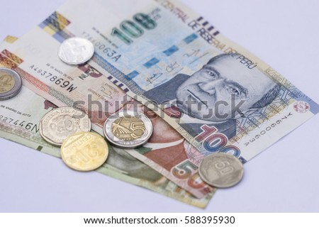 Peruvian bank notes nuevos soles currency stock photo edit now peruvian bank notes nuevos soles currency from peru money coins thecheapjerseys Choice Image