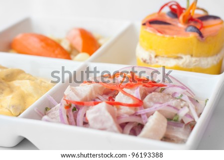 Tiradito stock photos images pictures shutterstock for Art of peruvian cuisine