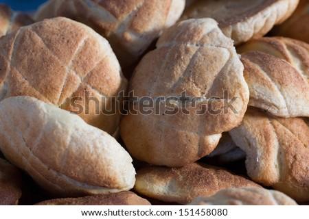 Peruvian culinary: Traditional artisan bread in Huaraz, Peru - stock photo
