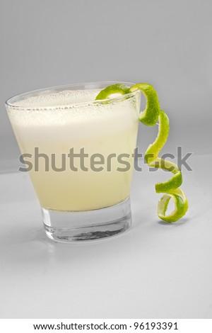Peruvian drink, Pisco sour - stock photo