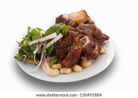 Peruvian food, Chicharron of Cuzco - stock photo