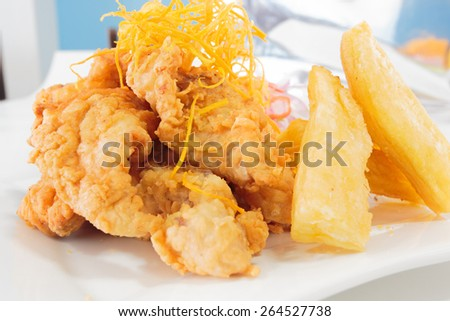 Chicharron stock photos images pictures shutterstock for Art of peruvian cuisine