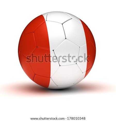 Peruvian Football (isolated with clipping path)