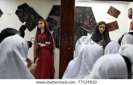 PESHAWAR, PAKISTAN - MAY 18: Students visit Peshawar Museum on occasion of the International Museum Day on May 18, 2011 in Peshawar.