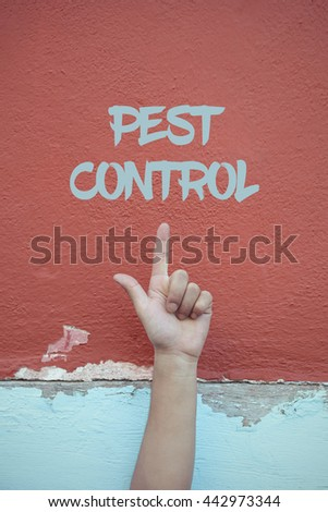 Pest Control. - stock photo