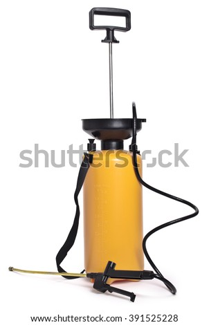 Pesticide sprayer,isolated on white background. - stock photo