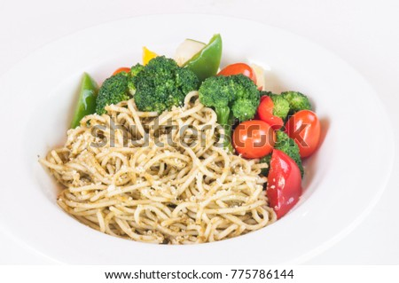 Pesto Pasta with vegetables