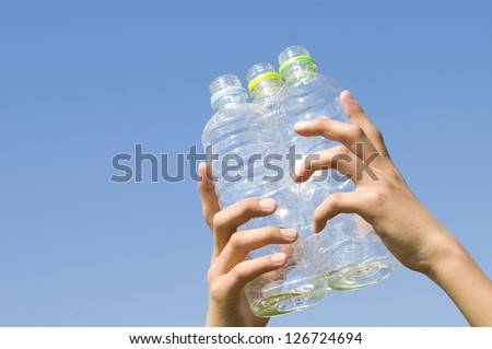 PET bottles, - stock photo