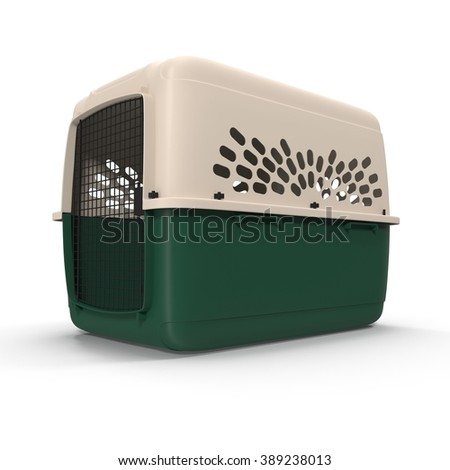 Pet carrier isolated on a white background