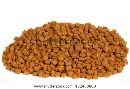 pet food in a white background