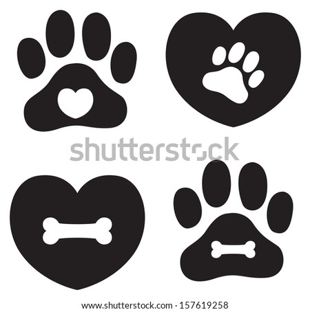 Pet Icons - stock photo