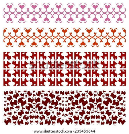 pet pattern - stock photo