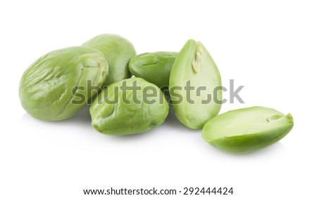 Petai, Bitter Beans isolated on a white background.
