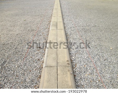 Petanque field - stock photo
