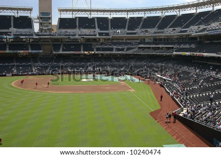 Petco park during the NLCS
