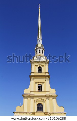 Peter and Paul Cathedral spike in St. Petersburg - stock photo