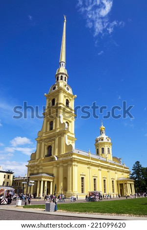 Peter and Paul Cathedral, St. Petersburg, Russia - stock photo