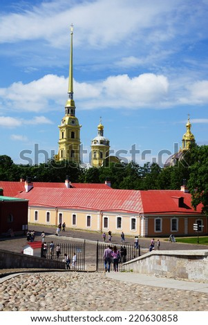 Peter and Paul Fortress. St. Petersburg, Russia - stock photo
