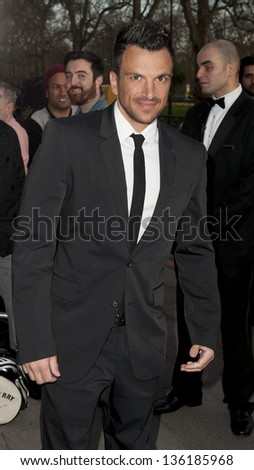 Peter Andre arriving for the Asian Awards 2013, Grosvenor House Hotel, Park Lane, London. 16/04/2013 Picture by: Simon Burchell - stock photo