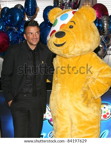 Peter Andre celebrating the launch of BBC Children in Need POP Goes the Musical, at Kensington Roof Gardens, west London. 31/08/2011 Picture by: Alexandra Glen / Featureflash