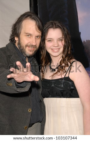 "Peter Jackson and daughter  at the Los Angeles Premiere of ""The Lovely Bones,"" Chinese Theater, Hollywood, CA. 12-07-09"