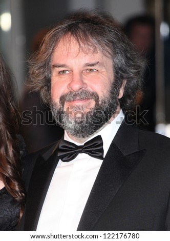 Peter Jackson arriving for The hobbit Premiere, Odeon Leicester Square, London. 12/12/2012 Picture by: Alexandra Glen - stock photo