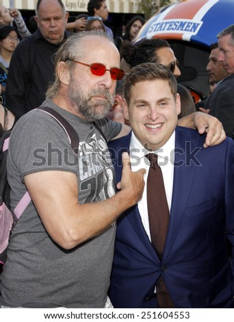 "Peter Stormare and Jonah Hill at the Los Angeles premiere of ""22 Jump Street"" held at the Regency Village Theatre in Los Angeles on June 10, 2014 in Los Angeles, California."