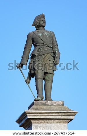 Peter the Great Monument in Taganrog, Russia. The monument by the Russian-Jewish sculptor Mark Antokolsky was unveiled on May 14, 1903. - stock photo