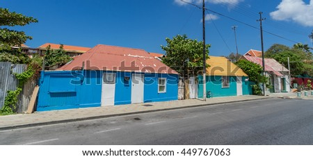 Petermaai historic suburb - Views around the tropical Caribbean island of Curacao