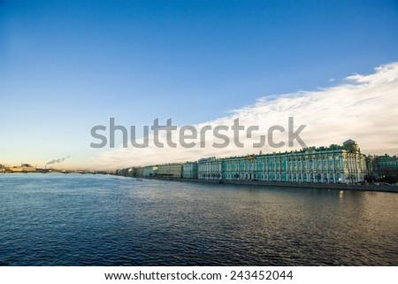 Petersburg Neva - stock photo