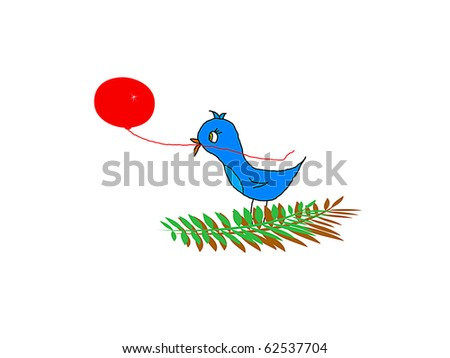 Petey on a Branch Catching a Balloon - stock photo