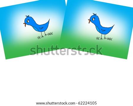 Petey the Bluebird/Text - stock photo