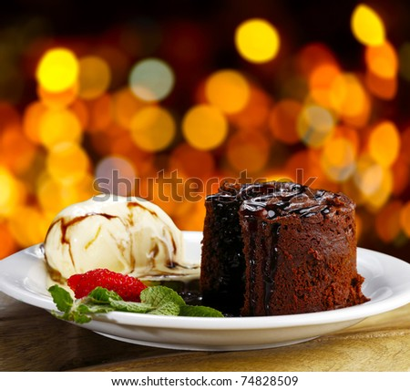 petit gateau - stock photo