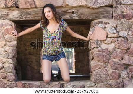 view petite brunette teen