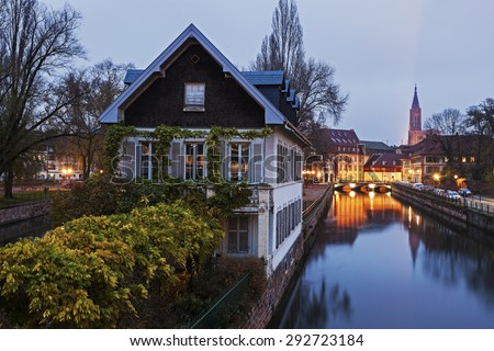 Petite-France architecture. Strasbourg, Alsace, France - stock photo