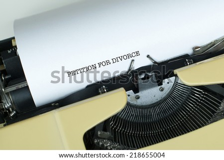 Petition For Divorce - stock photo