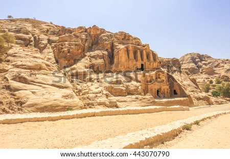 Petra ancient city in Jordan. Middle East