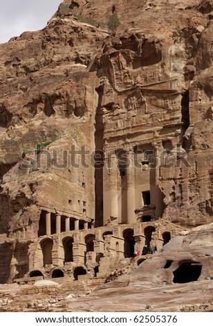 Petra City of Jordan, Middle East - stock photo