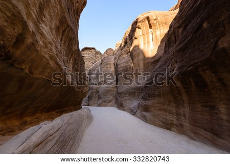 Petra, the capital of the kingdom of the Nabateans in ancient times. UNESCO World Heritage