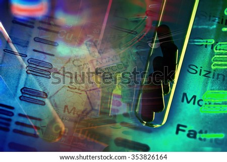 Petri dishes and pipette. Laboratory concept. - stock photo