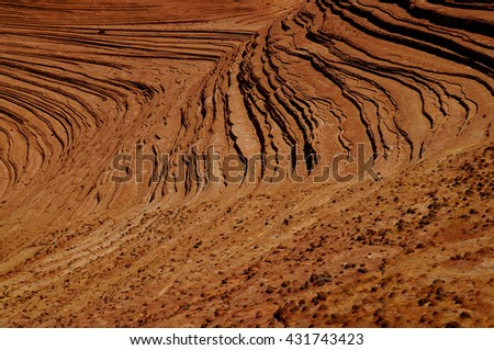 Petrified Dunes at Snow Canyon near Zion Park, Utah US.