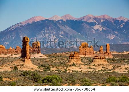 Petrified Dunes the Arches National Park, Utah, USA - stock photo