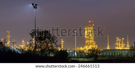 petrochemical plant at twilight