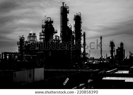 Petrochemical plant background - stock photo