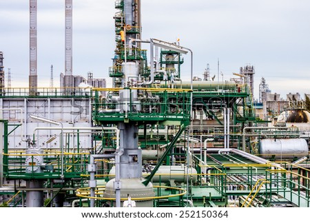petrochemical plant in thailand - stock photo
